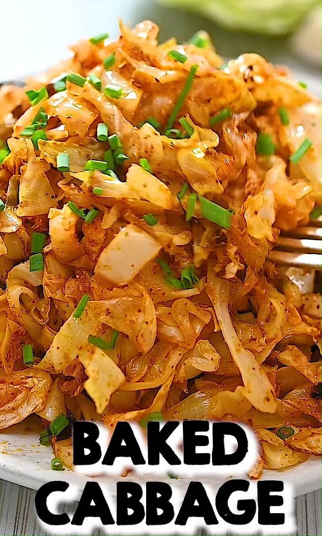 Easy Baked Cabbage