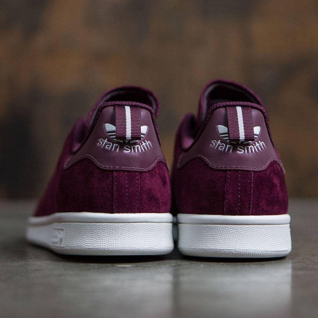 d759ed411307 Adidas Men Stan Smith burgundy maroon footwear white