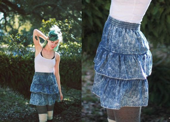Vintage 1980s small high waisted skirt / by elizamoonbeamvintage