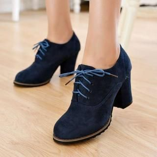 Buy 'Pangmama – Lace-Up Chunky-Heel Pumps' with Free International Shipping at YesStyle.com. Browse and shop for thousands of Asian fashion items from China and more!