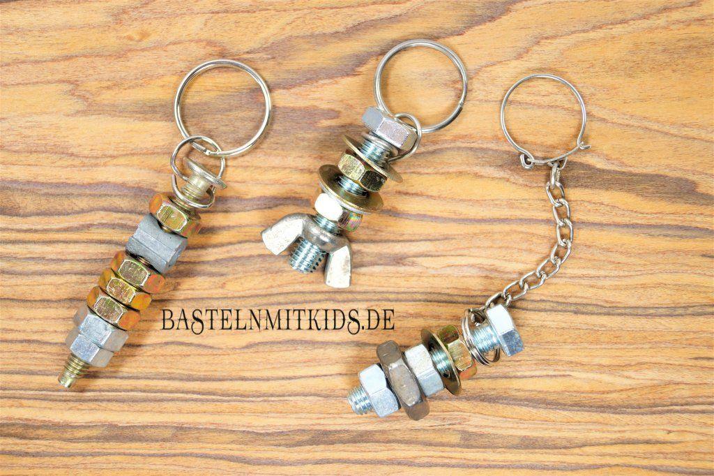 Super Schlüsselanhänger basteln mit Kindern | Vatertag | Vatertag CS43