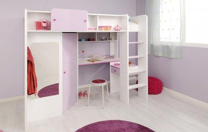 Etagenbett Mit Schreibtisch Und Schrank : Hochbett sweety #hochbett #weiß #flieder #schreibtisch #schrank