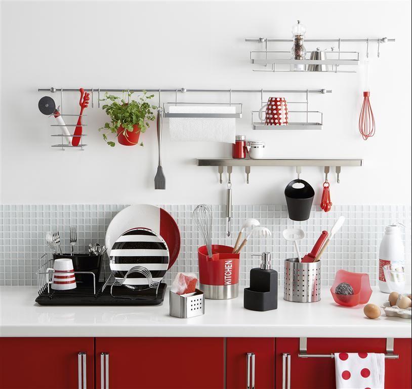Cuisine rouge blanche et noire Leroy Merlin Cuisine Pinterest - Photo Cuisine Rouge Et Grise