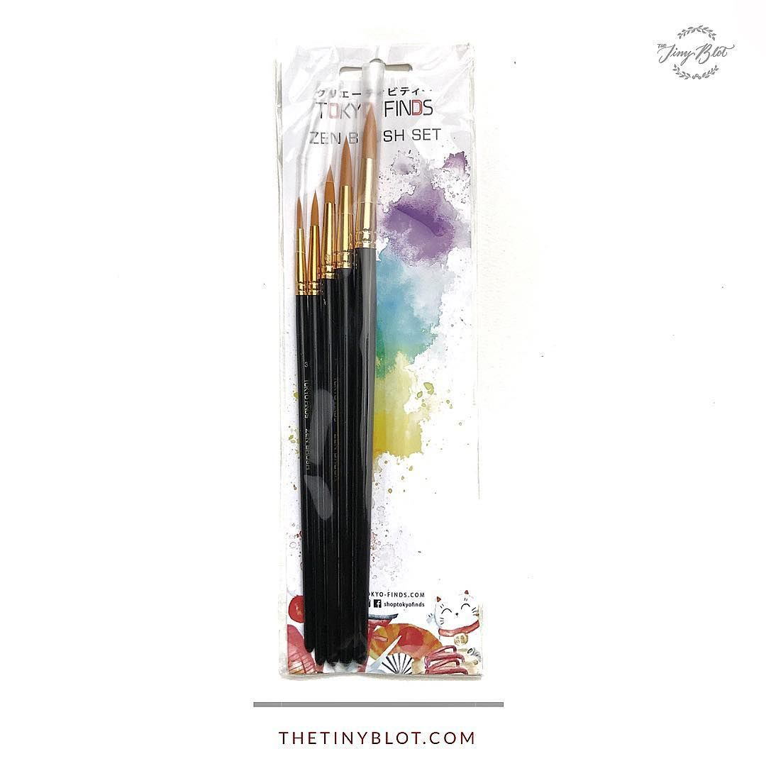Shoptokyofinds Professional Zen Brush Set Of 5 For Acrylic