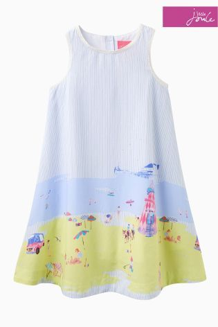 the latest aac0f a0785 Buy White Little Joule Beach Print Dress from the Next UK ...