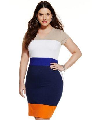 104387a0a3c Colorblock Ponte Impact Dress from eloquii.com