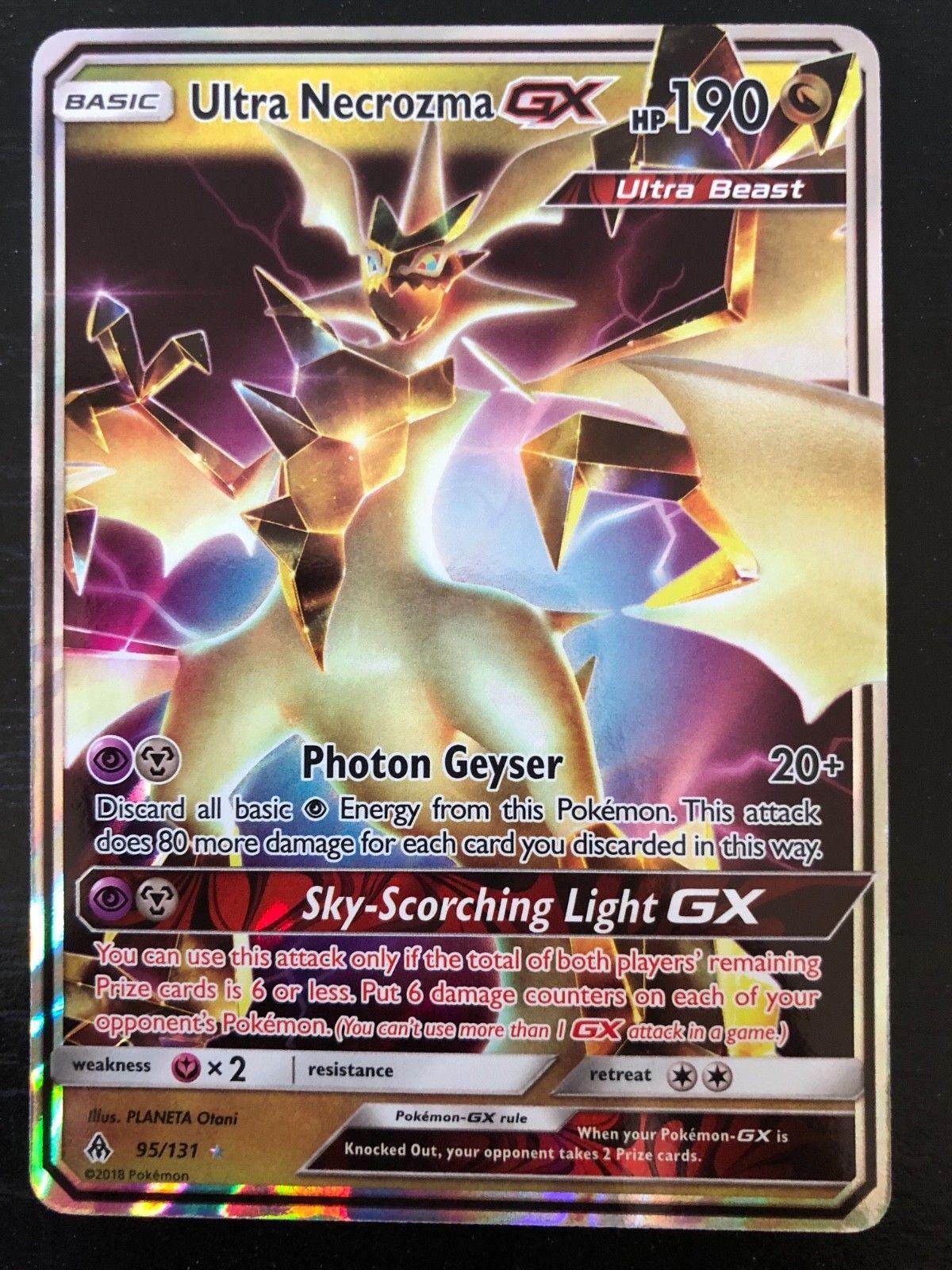 Pokemon Ultra Necrozma Gx 95 131 Ultra Rare Nm Mint Forbidden Light Kaarten Pokemon Kunst Ideeen Tekenen