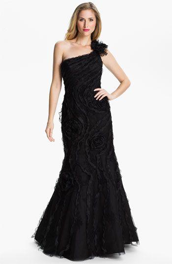 Nordstrom Black One Shoulder Prom Dress
