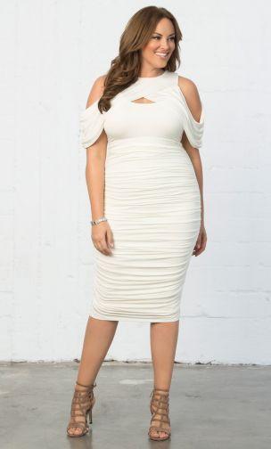 Bianca Ruched Dress in 2019   Vowsx2   Plus size bodycon ...