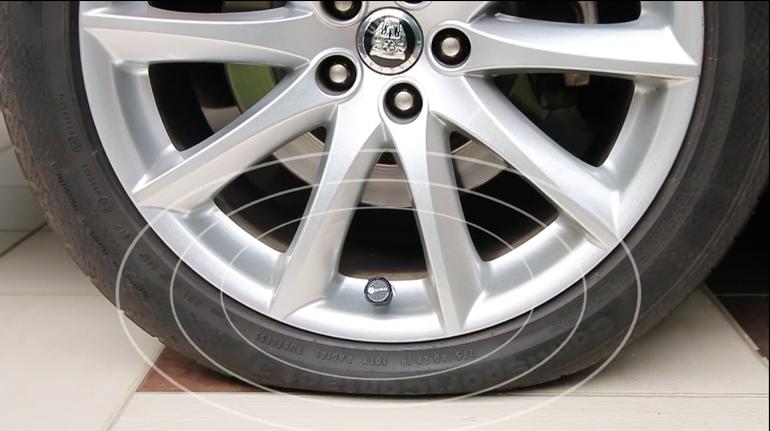 Bluetooth Sensors Constantly Check Car Tire Pressure Send Alerts Roadshow Car Gadgets Car Tires Tire Pressure Monitoring System