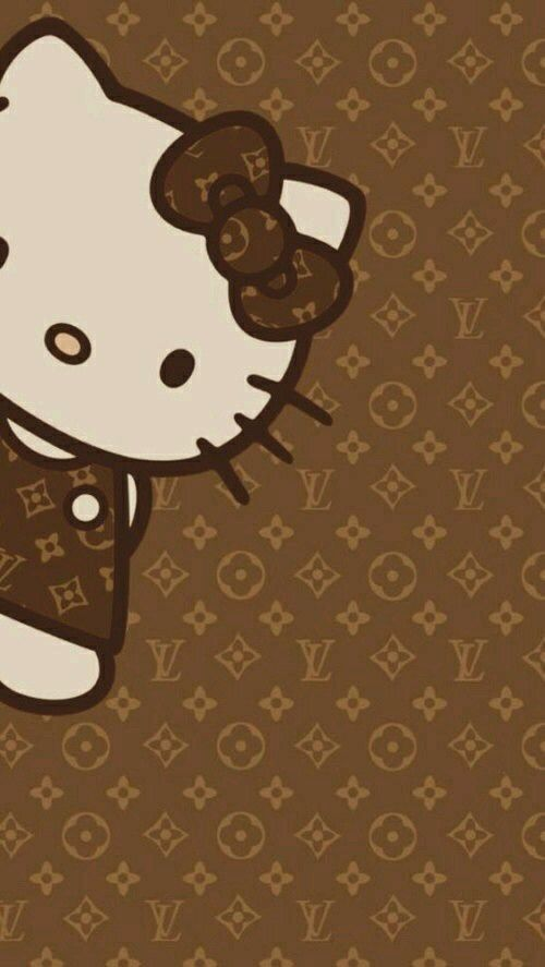 Fond d'écran Louis vuitton hello kitty
