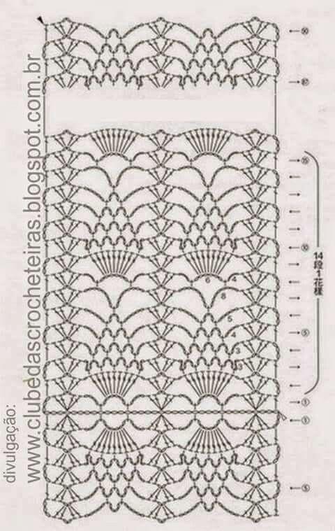 Bufanda blanca   Crochet Esquemas   Pinterest   Blanco, Patrones de ...