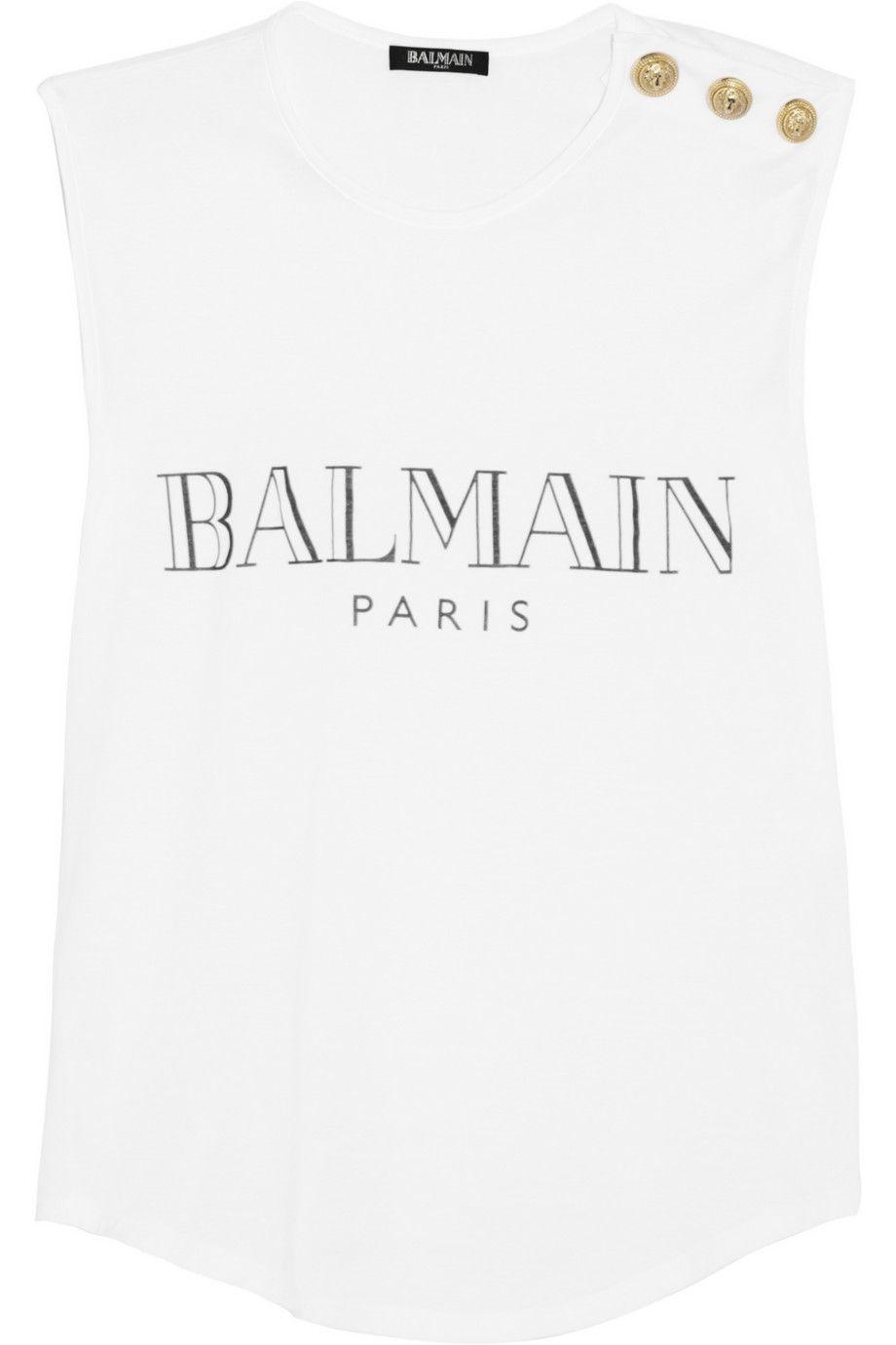 balmain t shirt net a porter