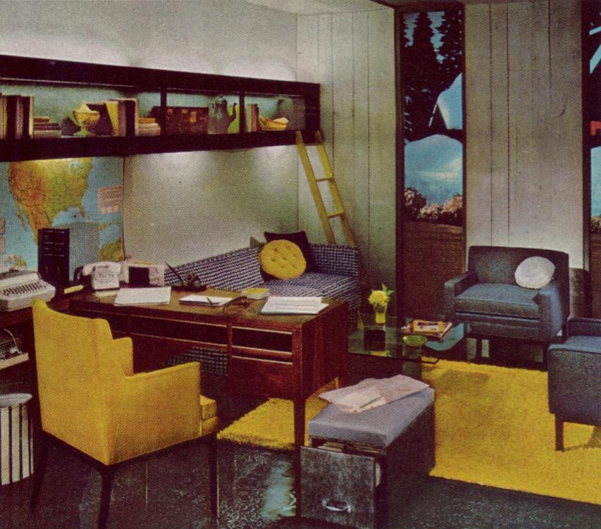 50 Best Home Office Design Ideas Of 2019: Vintage Mid Century Design Ideas In