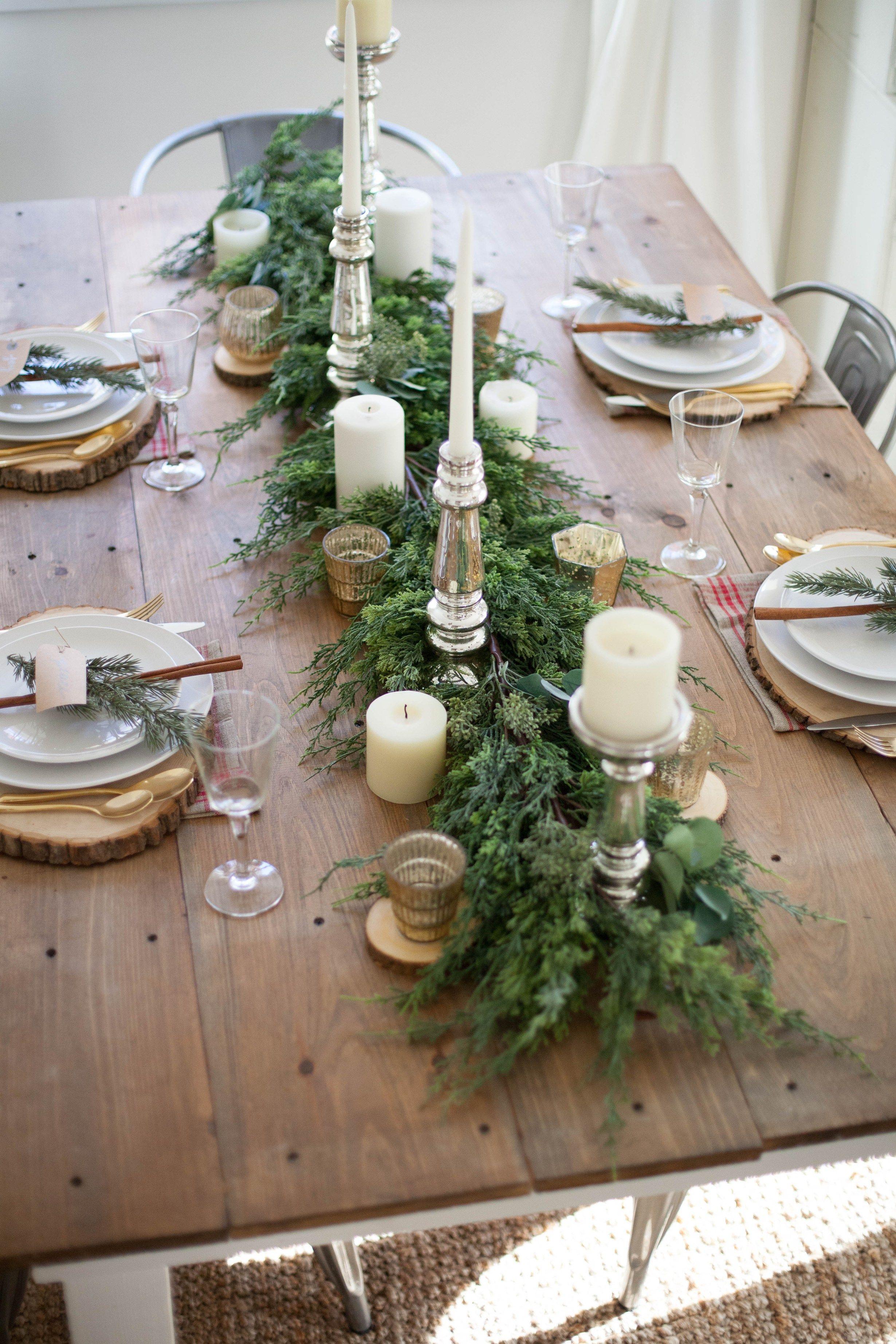 Home Farmhouse Christmas Tablescape C H R I S T M A S