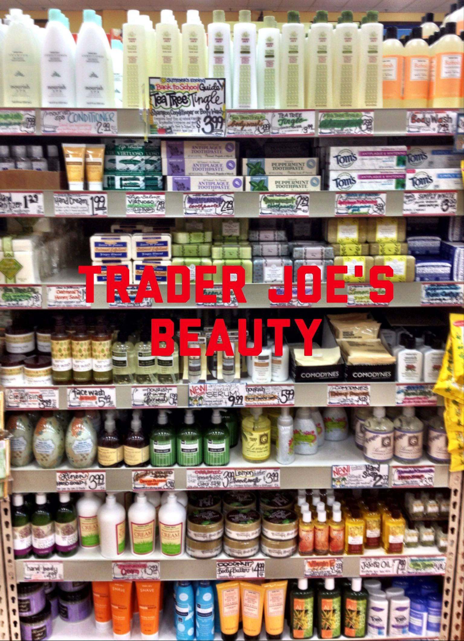 Trader Joe's Beauty Who Would Have Ever Thought?! Vegan