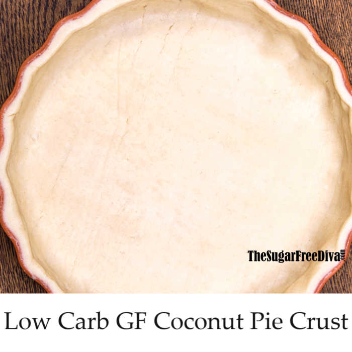 Coconut Flour Low Carb Pie Crust - THE SUGAR FREE DIVA