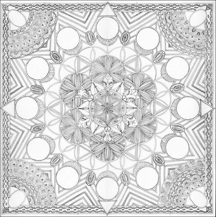 iColor ~ African pattern (750x752) | Coloring ~ Detailed ...