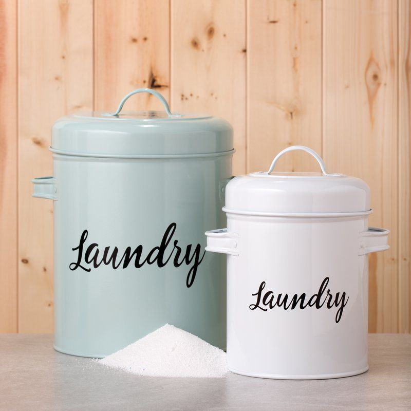 Metal Laundry Detergent Kitchen Canister Laundry Soap Container Retro Laundry Room Laundry Detergent Container