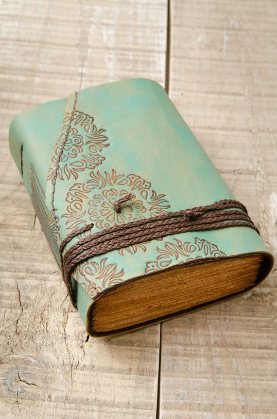 Hey, I found this really awesome Etsy listing at https://www.etsy.com/listing/270238428/turquoise-leather-journal-handbound