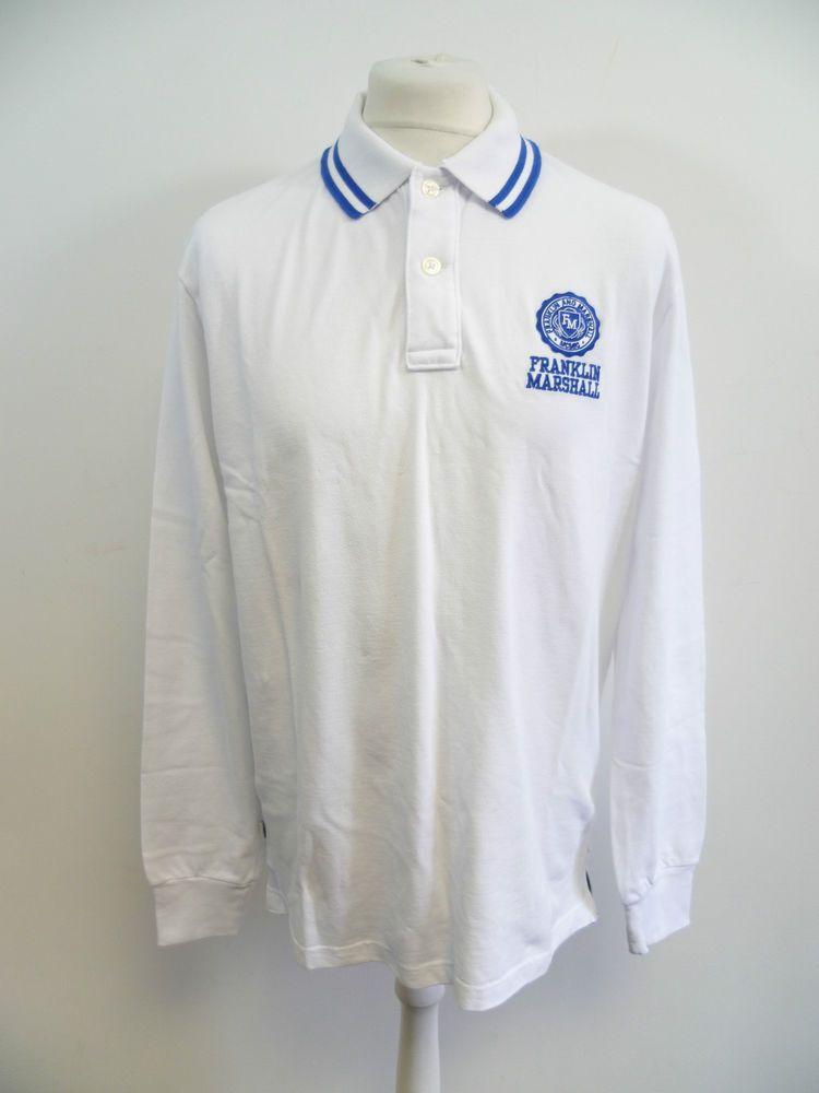a8cadeeb Franklin & Marshall Mens Long Sleeve Pique Polo Shirt SIZE XXL 2XL BOX84 09  F #fashion #clothing #shoes #accessories #mensclothing #shirts