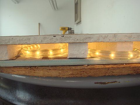view bench rope lighting. Wonderful View Size Layers Are Wood Shelf Insulation Board 2 String Of Exterior Rope  Lights And Spacers Drywall Waterproof Sheet Layer On View Bench Rope Lighting