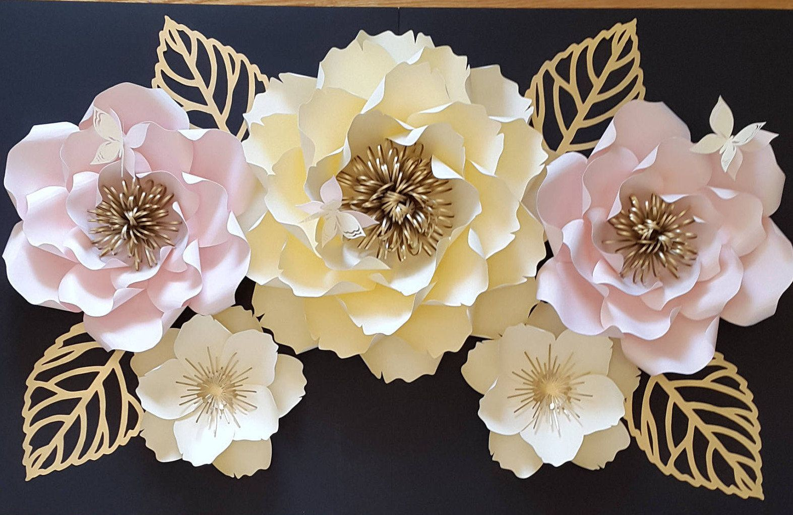 Large paper flower backdrop, Large paper flower decor, Large paper ...