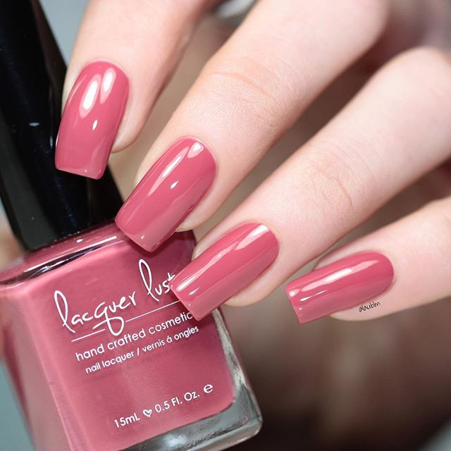 A medium pink with red and maroon undertones. Polish should reach ...