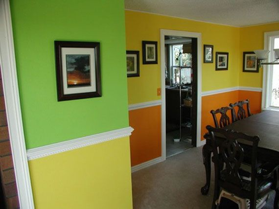 Captivating Painting House Interior | Stunning Home Interior Painting In Fresh Citrus  Color Design Ideas