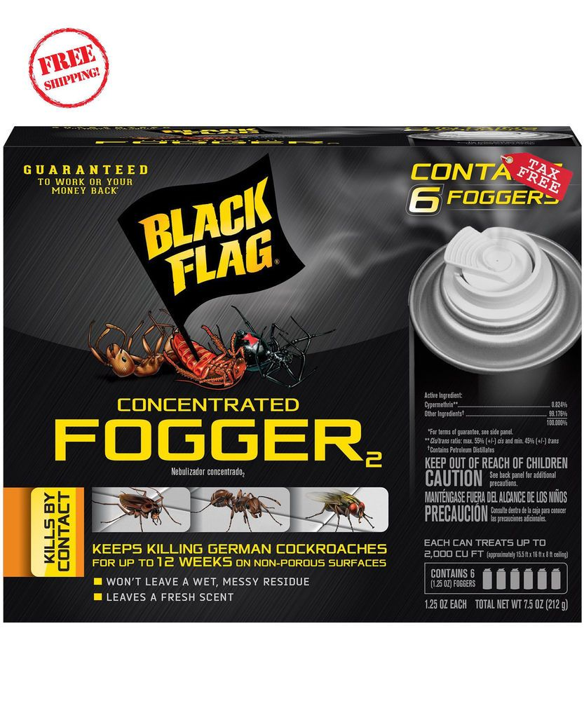 6 Count Bed Bug Bomb Insect Fogger Kill Mosquito Flies
