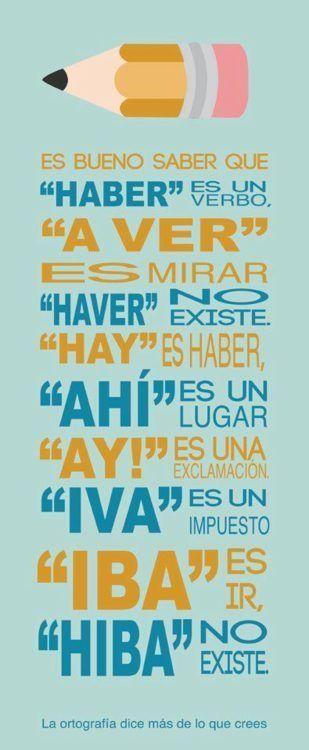 Pin de Carlos Urgilés en Gramática | Ortografía ...