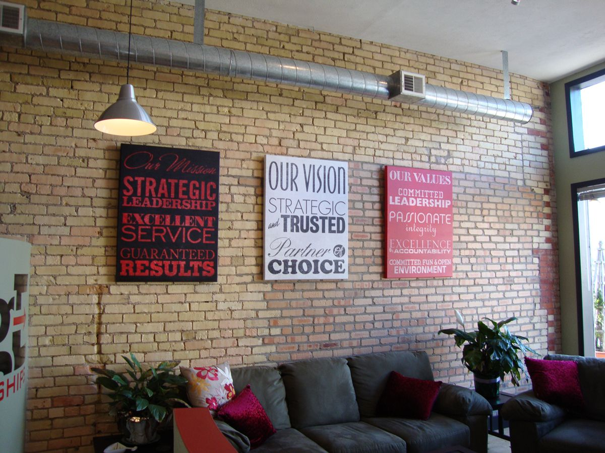 Love This Style And Method For Display Your Company Mission Values Well Done