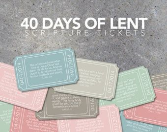 Download 40 Days of Lent Scripture Tickets - Countdown to Easter ...