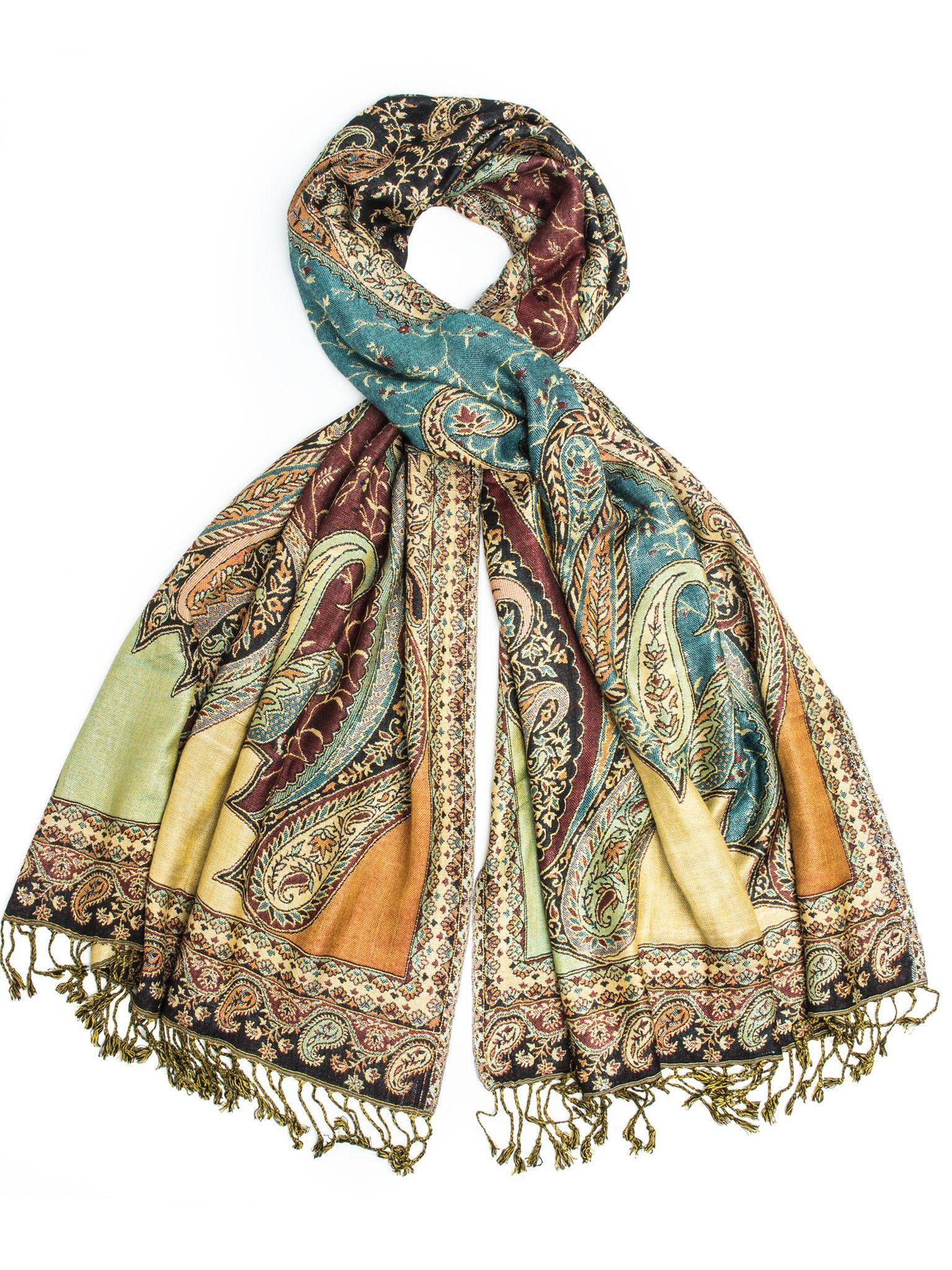 Cashmere Pashmina /& Silk Shawl Scarf Wrap Handmade in Nepal