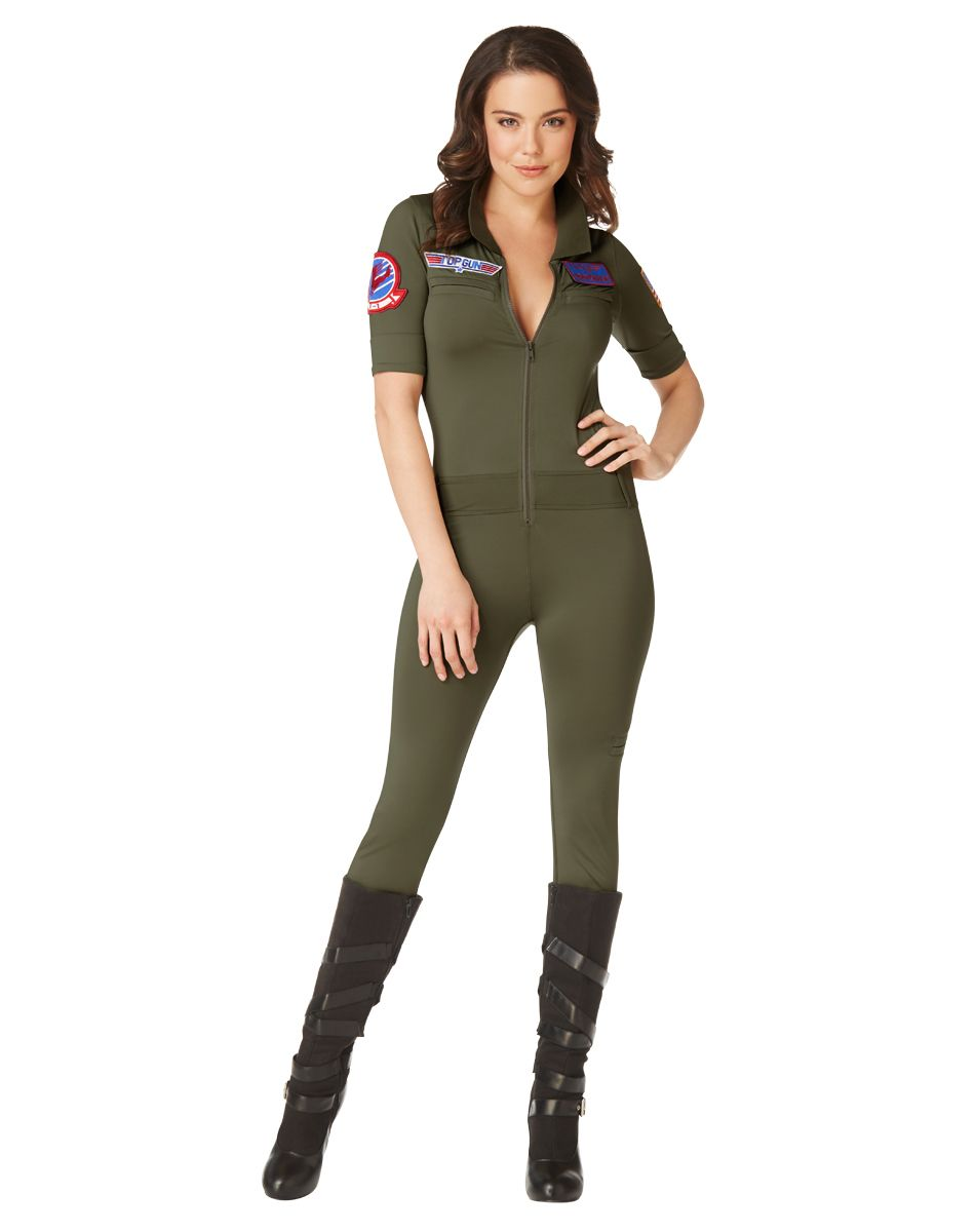 Top Gun Jumpsuit Adult Womens Costume – Spirit Halloween | Clothes ...