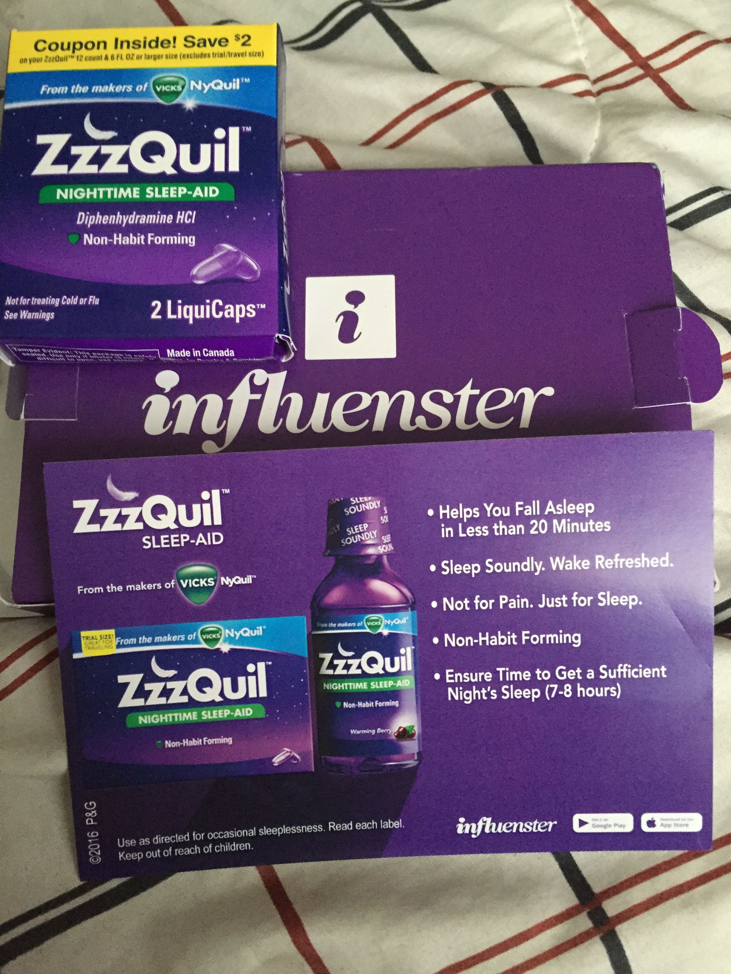 Can You Get Addicted To Nyquil Influenster Freeproduct Testing Zzzquil Goodnight Sleeplovers Tonight Cantwait Nighttime Sleep Aid How To Fall Asleep Sleep Lover