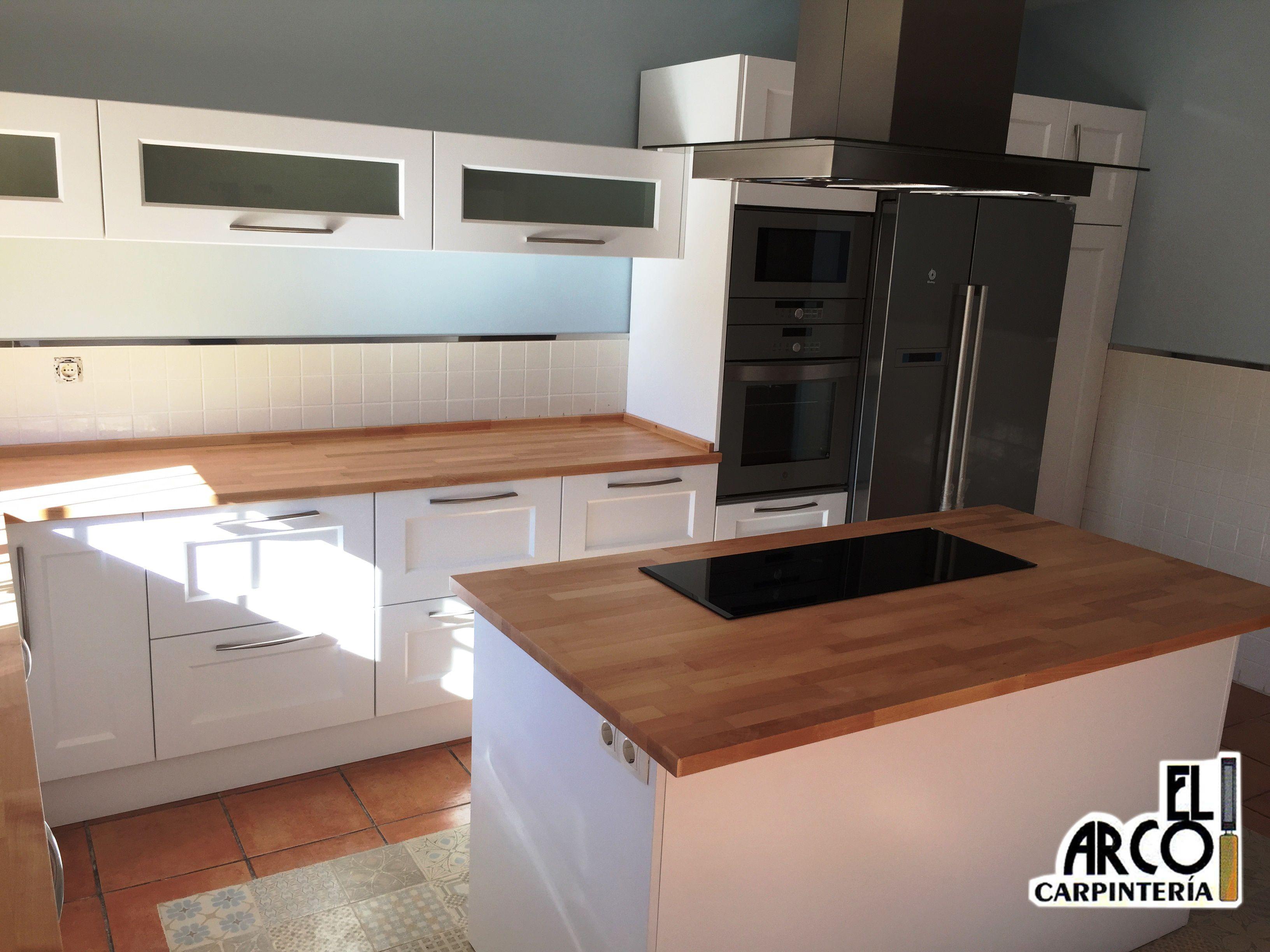 Cocina mdf lacada en color blanco en puertas y cajones - Cajones para cocinas ...