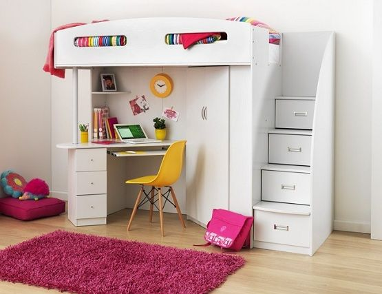 Bunk Bed With Desk Underneath And Storage Stairs Home Interiors Bunk Bed With Desk Girls Loft Bed Bed With Desk Underneath