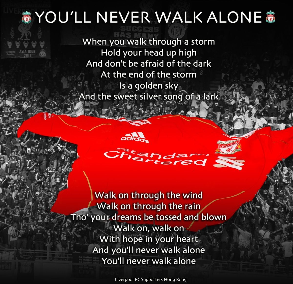 you 39 ll never walk alone liverpool football club quotes words pinterest liverpool. Black Bedroom Furniture Sets. Home Design Ideas