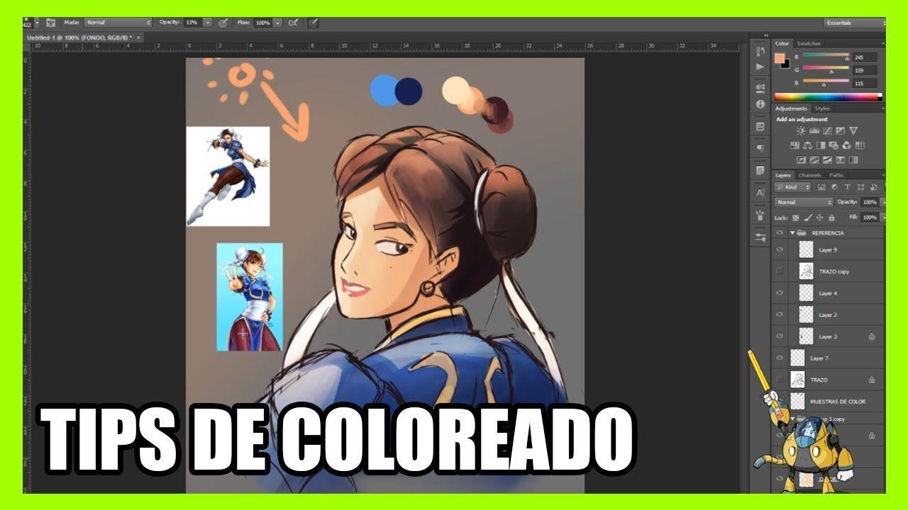 Tips De Coloreado Digital Tutorial De Dibujo Concurso De Dibujo Reto De Dibujo