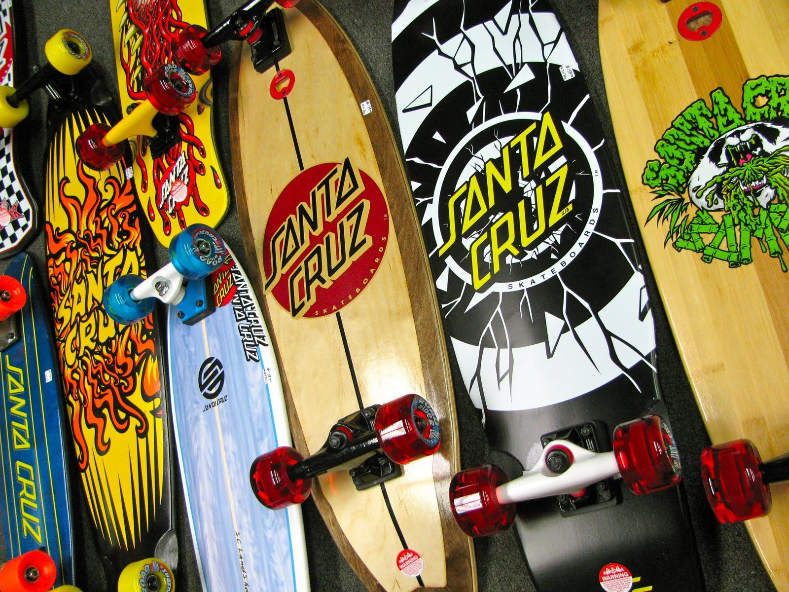 Some Santa Cruz Boards スケートボード