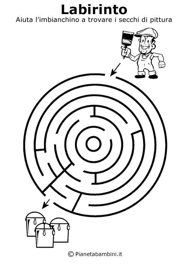 Labirinti Da Stampare Per Bambini Di 5 Anni Circa Preschool 5 6