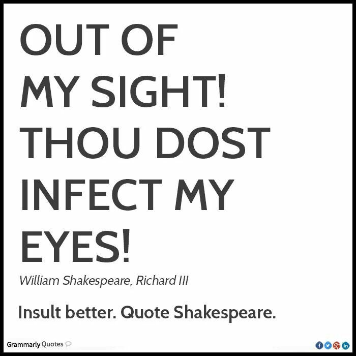 William Shakespeare Poetry Quotes: Richard III And INTJ