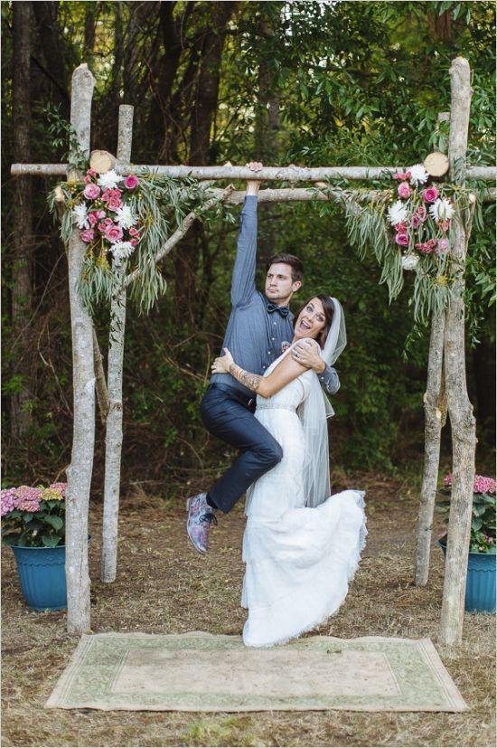 Decoraci n de arcos para boda al aire libre playa jard n y for Arcos de jardin