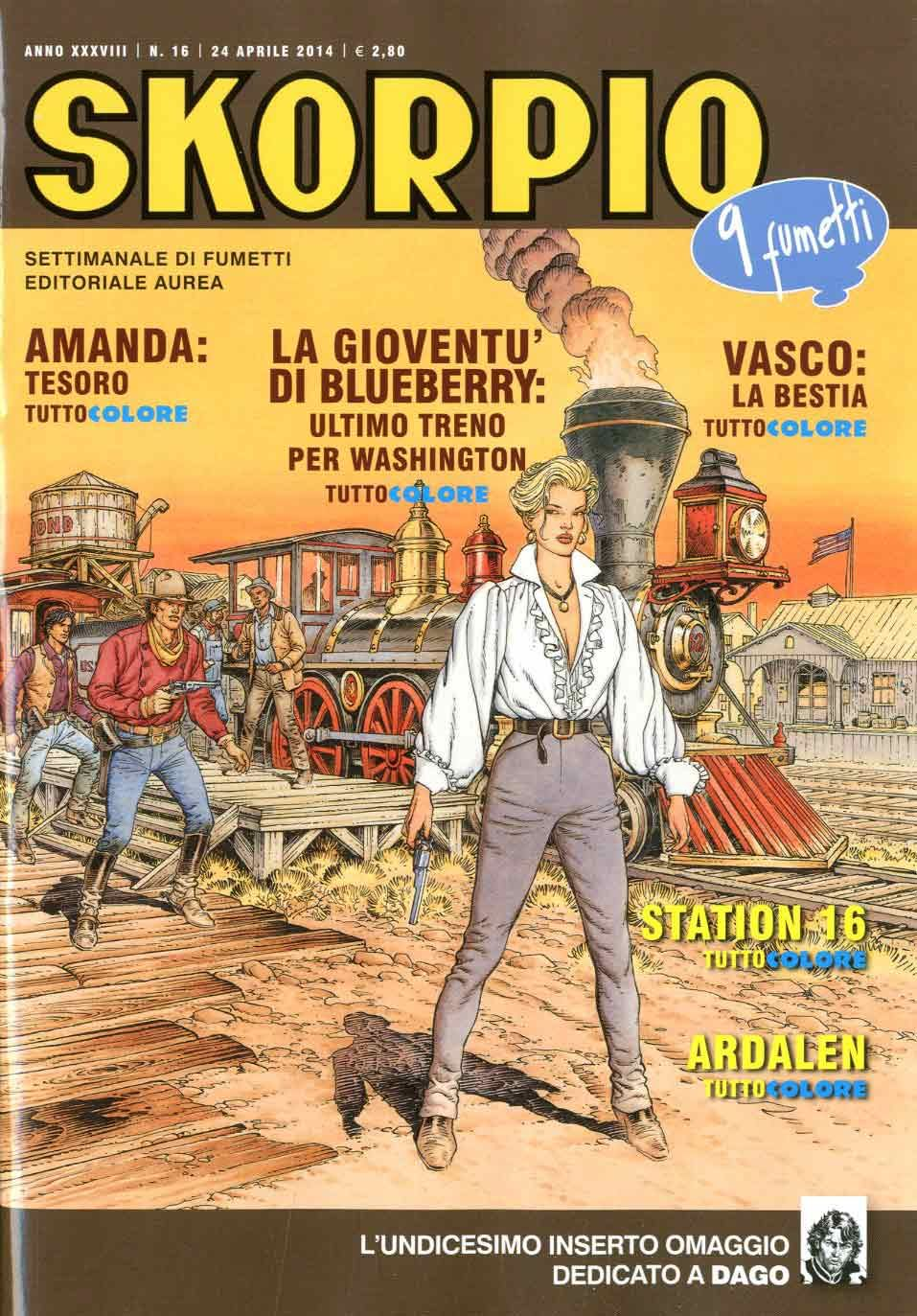 Fumetti EDITORIALE AUREA, Collana SKORPIO ANNEE 38 - 201416
