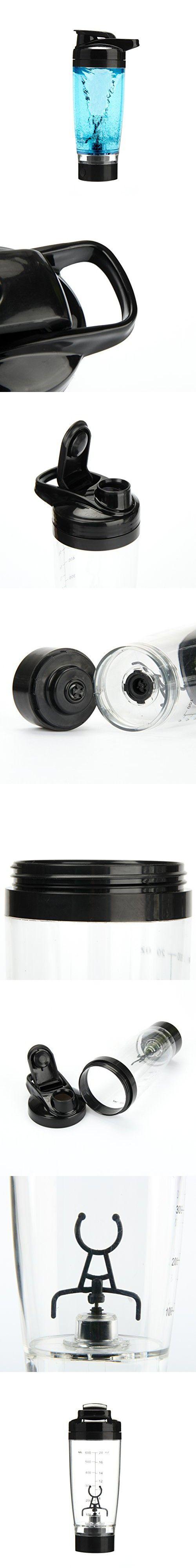 Vortex Mixer Blender Protein Storage Container Shaker Bottle Evolution (Black)