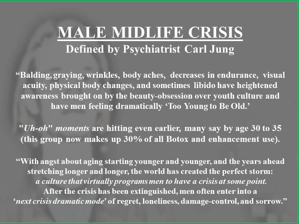 Male Midlife Crisis -- jeesh! | Mid life crisis, Self