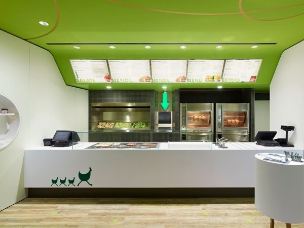 Modern Green Fast Food Restaurant Design Ideas Wienerwald