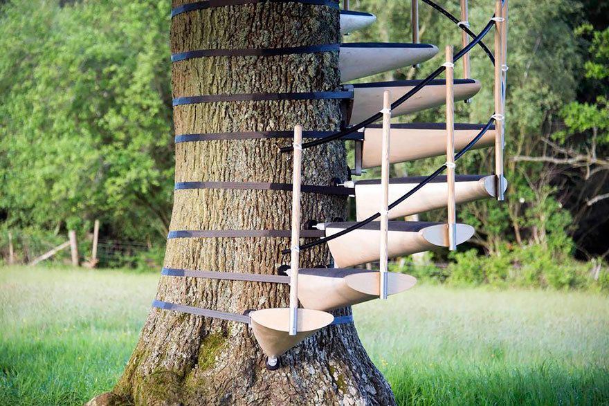 "Best Jebiga Design Magazine ""Canopystair Tree Trunk Staircase 400 x 300"