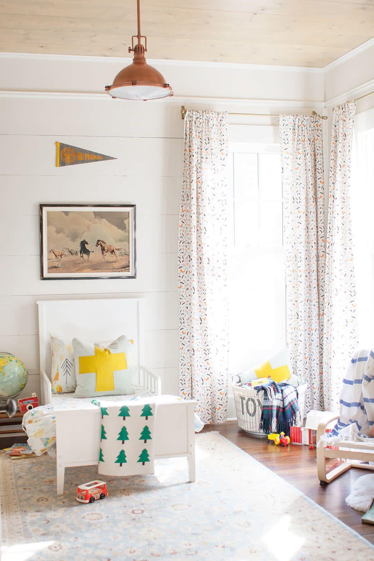 Cool Baby Boy Nursery Ideas: Bright And Rustic Little Boy Room